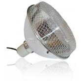 Lampa z ceramiczna oprawka 210mm REPTI GOOD SILVER + siatka ochronna